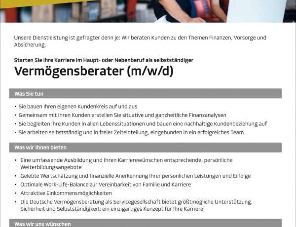 PR Karriere Stellenanzeigen AG6313KS08A54R0 300 609599189127 1